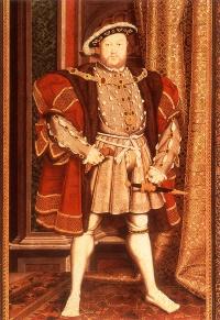 "Henry VIII wearing ""hose"""